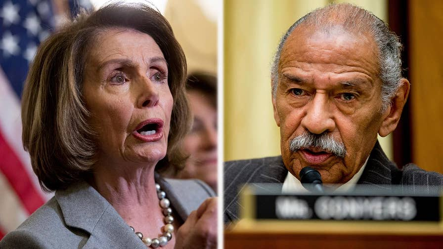 House minority leader reverses her position on embattled Michigan Rep. John Conyers.
