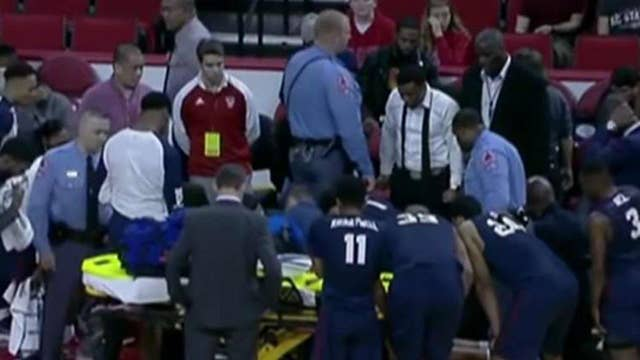 South Carolina State basketball player collapses