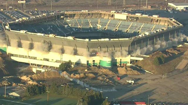 Michigan's Silverdome still standing after detonation