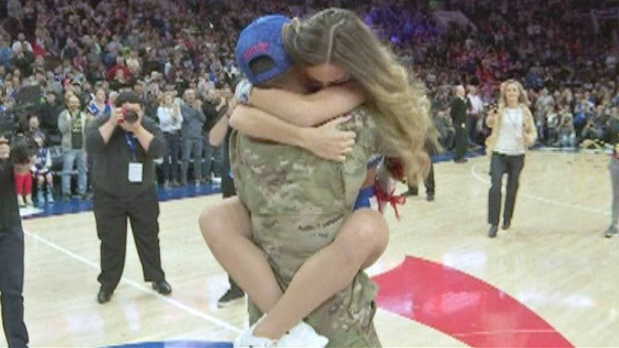 Video shows the emotional reunion.