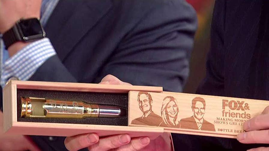 Former Navy SEAL Eli Crane and his wife Jen create Bottle Breacher brand of bottle openers.