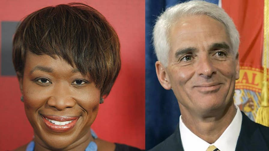 MSNBC host Joy Reid issues an apology for old blog posts in which she speculated about the sexuality of former Florida governor Charlie Crist.