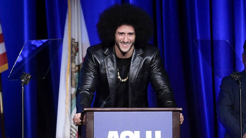 Colin Kaepernick honored at ACLU Bill of Rights Dinner