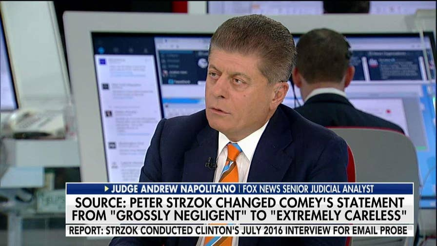 Judge Napolitano on Peter Strzok