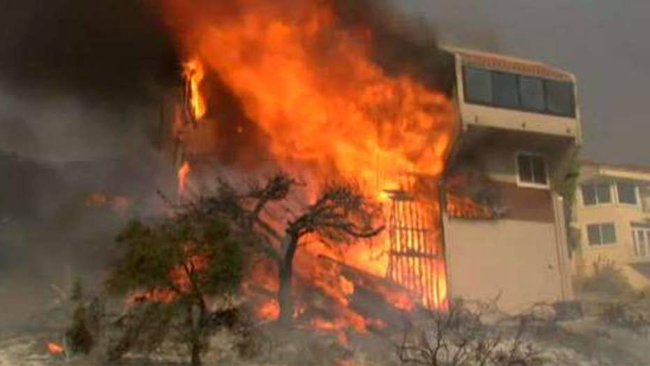 Firefighters race to save Christmas as wildfire claims home