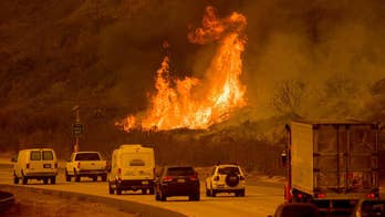 Firefighters are battling the blazes fueled by the whipping Santa Ana winds; Adam Housley has the details for 'Special Report.'