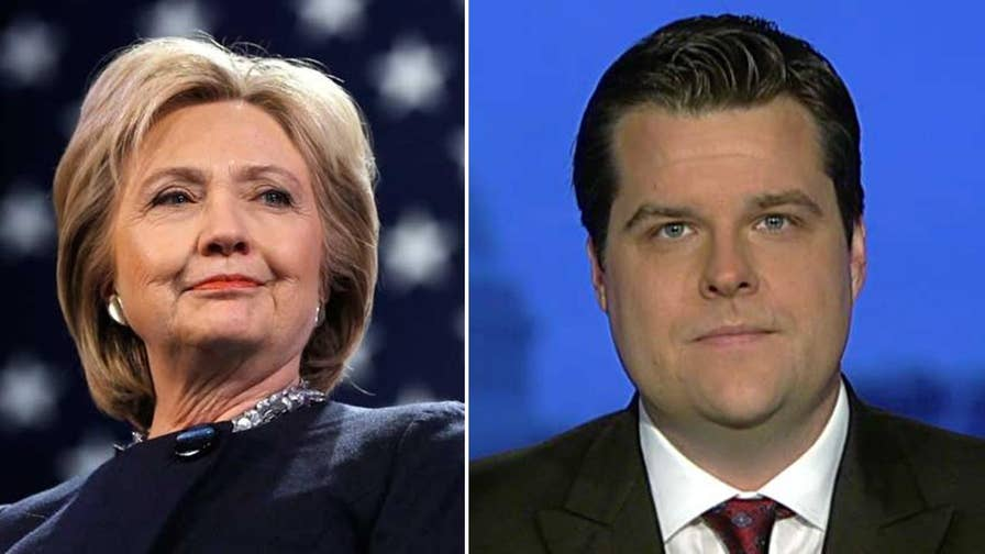 Rep. Matt Gaetz sounds off on the 'double standard' in the FBI investigation.