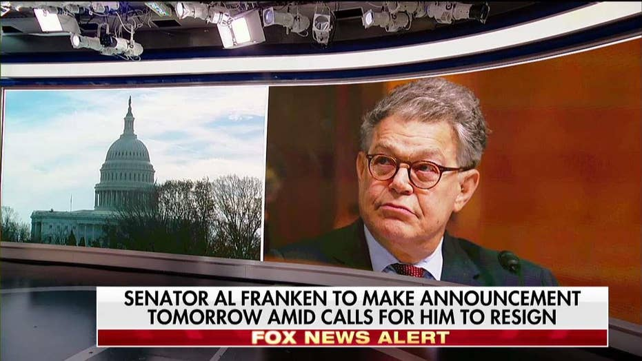 Franken faces flood of calls for his resignation.
