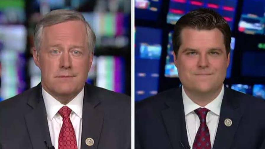 Reps. Mark Meadows and Matt Gaetz speak out on 'Hannity' after asking for an investigation into special treatment given to Hillary Clinton.