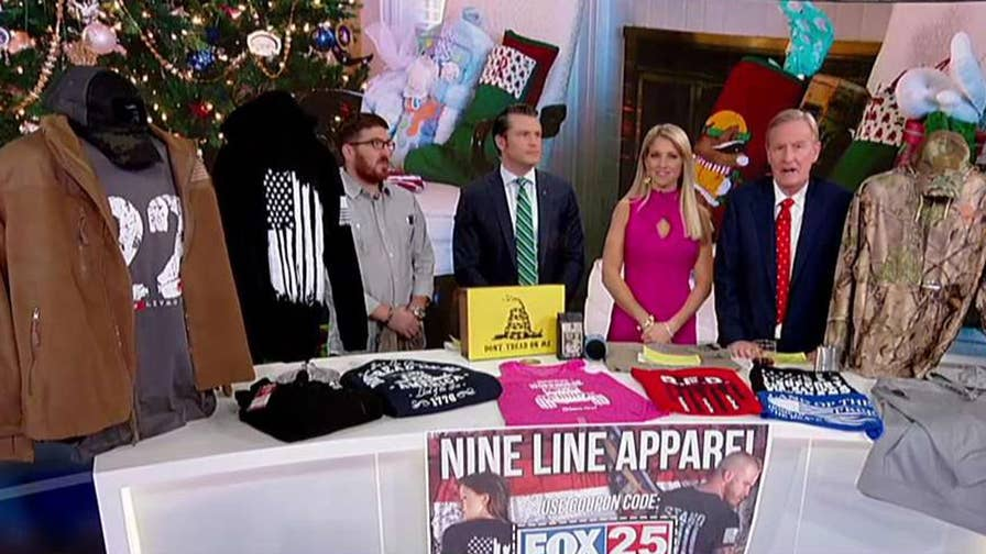 Captain Tyler Merritt shows off his company's products on 'Fox & Friends.'
