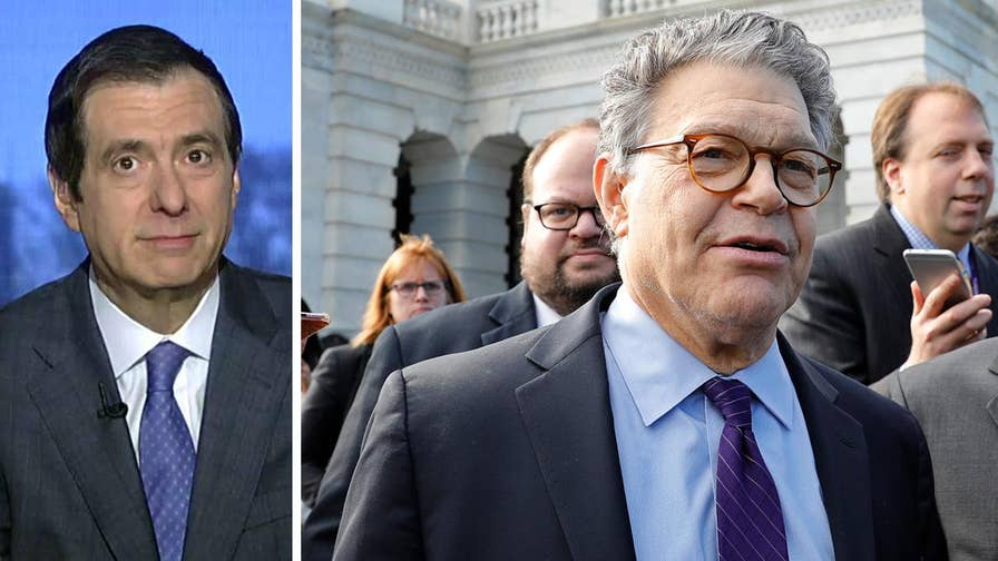 'MediaBuzz' host Howard Kurtz weighs in on Al Franken's parting shot at President Trump and Roy Moore after announcing his resignation from the Senate.