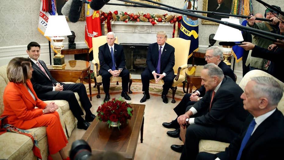 Trump meets with congressional leaders to avoid a shutdown