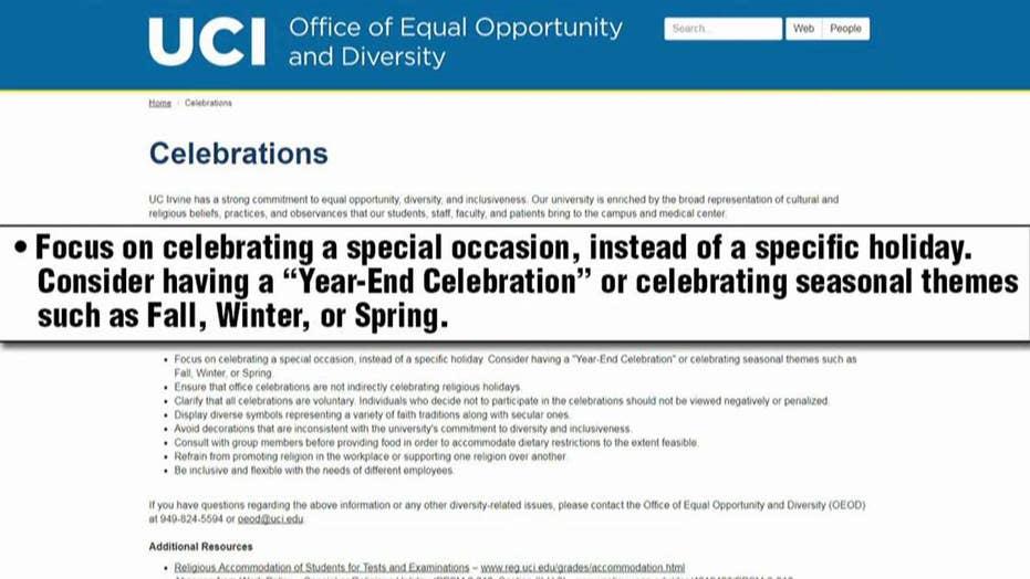 UC Irvine encourages celebrating seasons instead of holidays