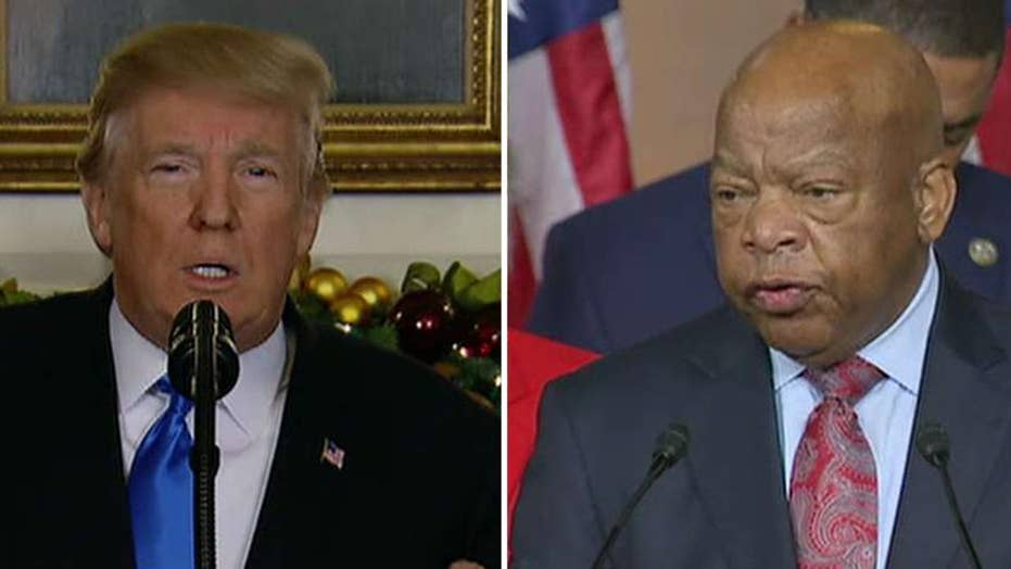 Rep. Lewis to skip civil rights museum opening over Trump