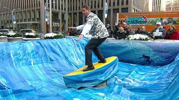 Party Perfect Rentals provides 'Fox & Friends' with a mechanical surfboard | Check out partyperfectrentals.com