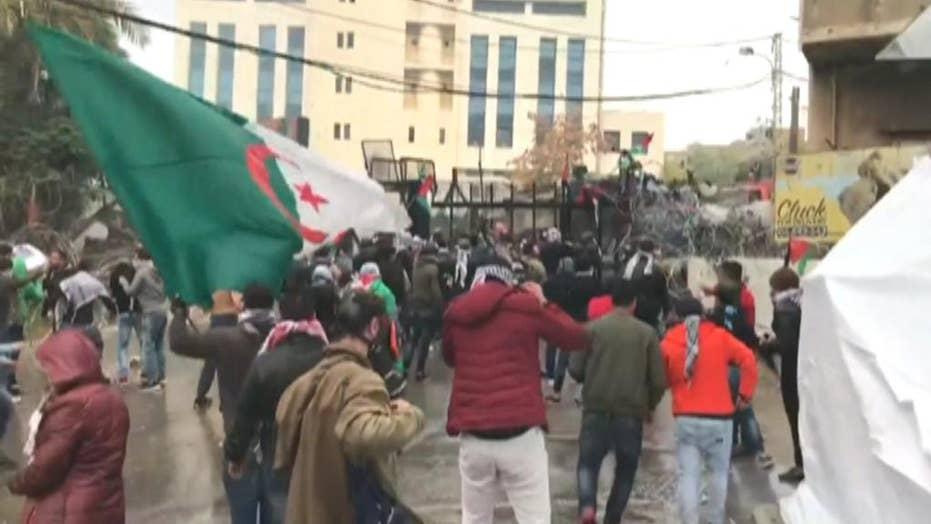Anti-US demonstrations outside embassy in Lebanon
