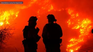 Adam Housley reports from Carpinteria on the latest efforts to fight the massive fires.