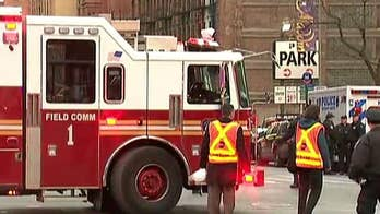 Reported pipe bomb explosion near Port Authority Bus Terminal in Midtown Manhattan.