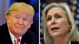 "President Trump slammed ""Lightweight"" Sen. Kirsten Gillibrand early Tuesday after the New York Democrat sought his resignation in connection with allegations of sexual misconduct -- claims the president called ""false"" and ""fabricated."""