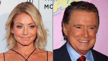 Kelly Ripa opens up about former co-host, Regis Philbin, talks about his 'no talking off-camera' rule, and also discusses her relationship with current host Ryan Seacrest