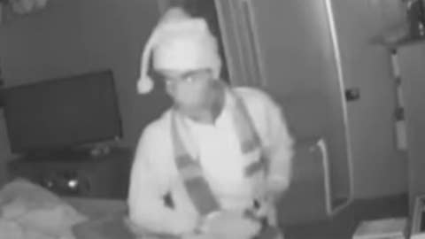 'Santa' burglary suspect caught on camera