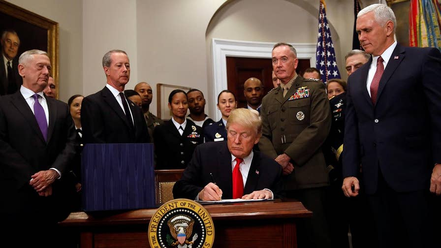President says spending hike is a step forward to restoring America's military might.