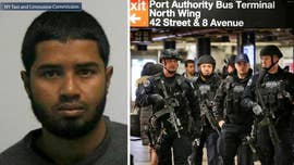 A Bangladeshi immigrant accused of setting off a pipe bomb in the New York subway system had his first court appearance on Wednesday via video from the hospital room where he is recovering from burns sustained in the blast.