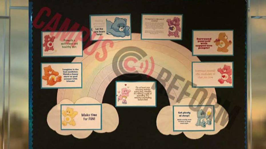 College enlists Care Bears to comfort stressed out students