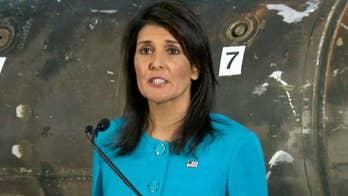 Haley says missile parts prove Iran violating UN resolutions