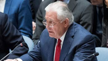 The U.S. Secretary of State spoke at the U.N. Security Council about North Korea.