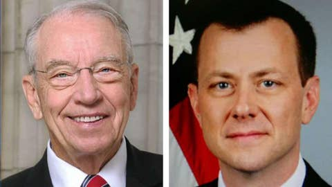 Sen. Grassley calls for greater scrutiny of Strzok's texts