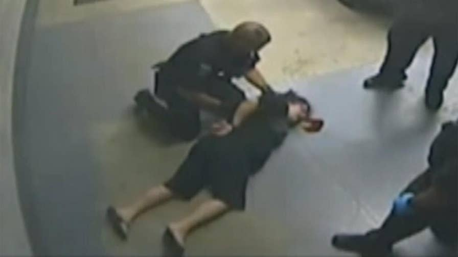 Raw video: Attorney releases footage of incident in Michigan where woman is slammed to ground and knocked unconscious while handcuffed.