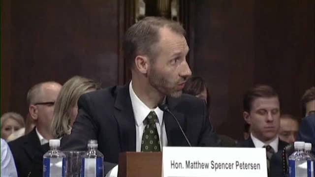 Judicial nominee's struggles at Senate hearing go viral