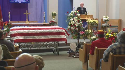 Emotional funeral held for abandoned veteran who served during Vietnam