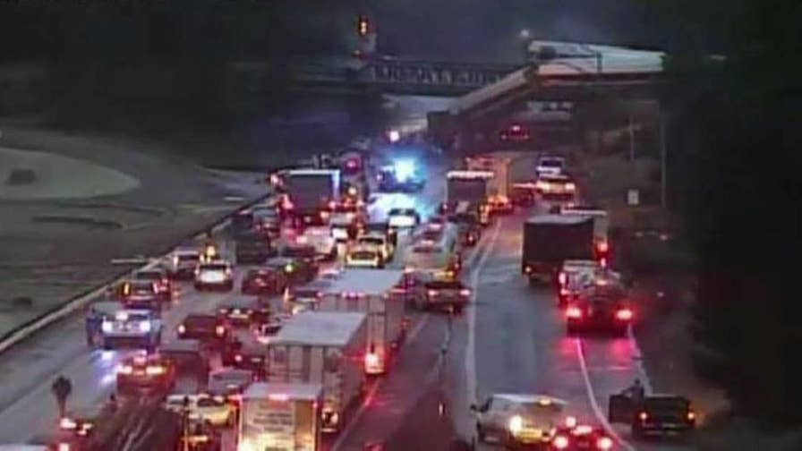 Incident involved Amtrak train 501; authorities advise drivers to avoid the area.