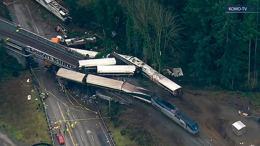 NTSB holds presser on Amtrak derailment in Washington.
