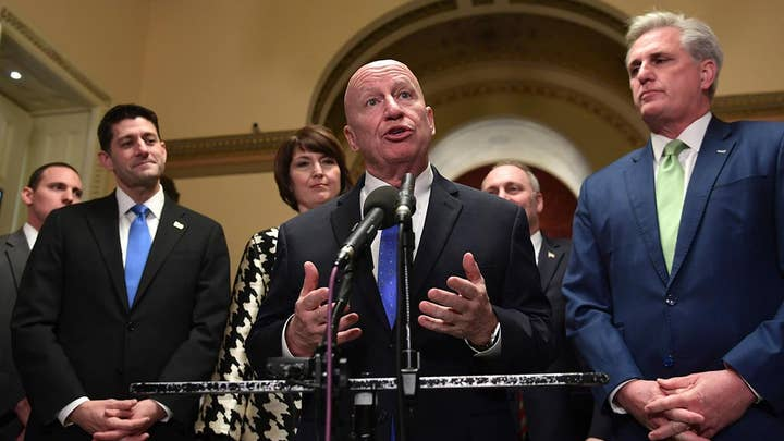 GOP leaders take victory lap after House passes tax bill