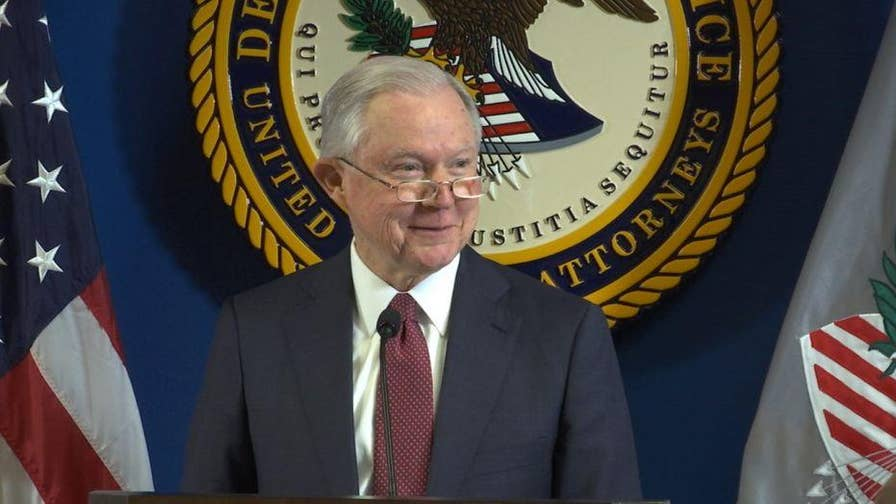 U.S. Attorney General Jeff Sessions visited Charlotte on Tuesday to announce a new policy to combat violent crime.