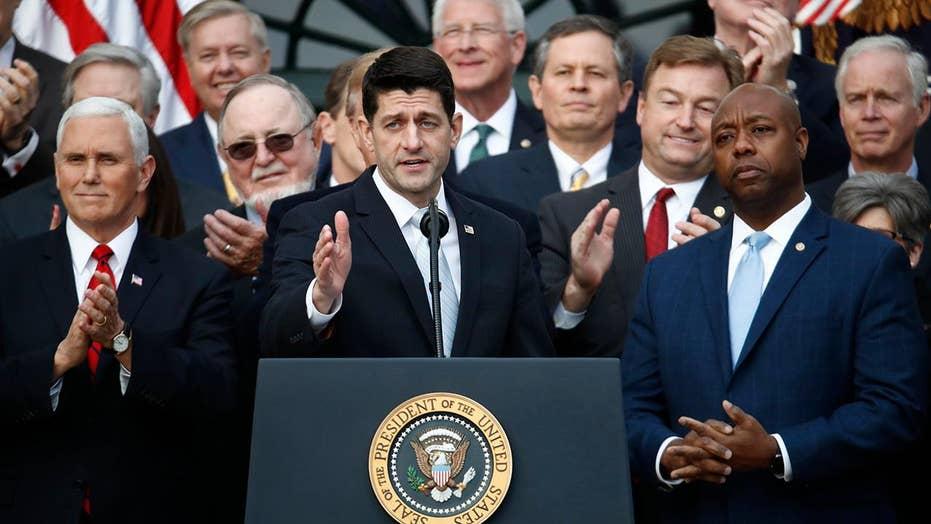 Trump, Republicans take victory lap on tax reform