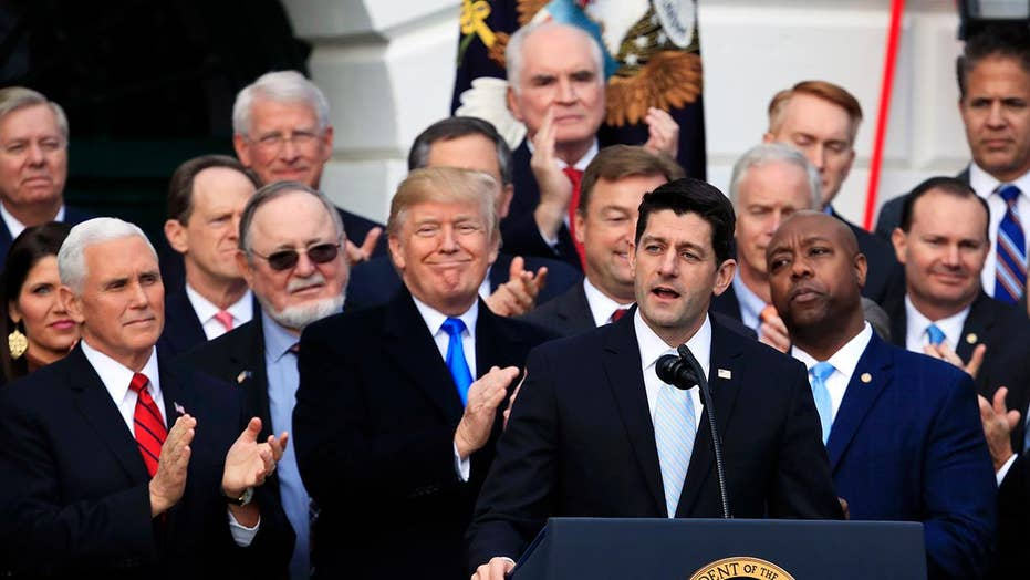 Trump, fellow GOPers celebrate passage of tax reform