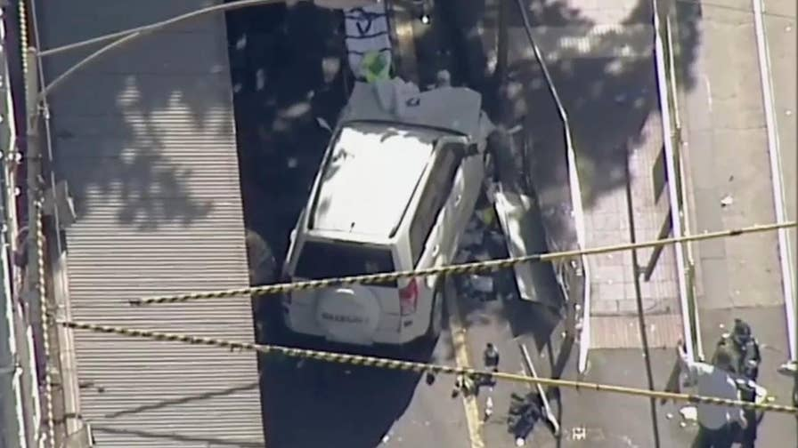 Jonathan Hunt reports on the investigation after a SUV plows into pedestrians in Australia.