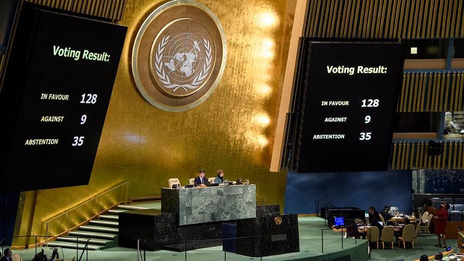 UN votes to condemn US decision on Jerusalem