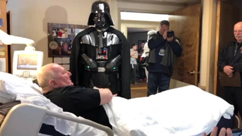Dying veteran's wish of seeing new 'Star Wars' movie granted