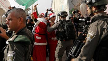 Palestinians try to use the holiday to make a political statement; Conor Powell reports from Jerusalem.