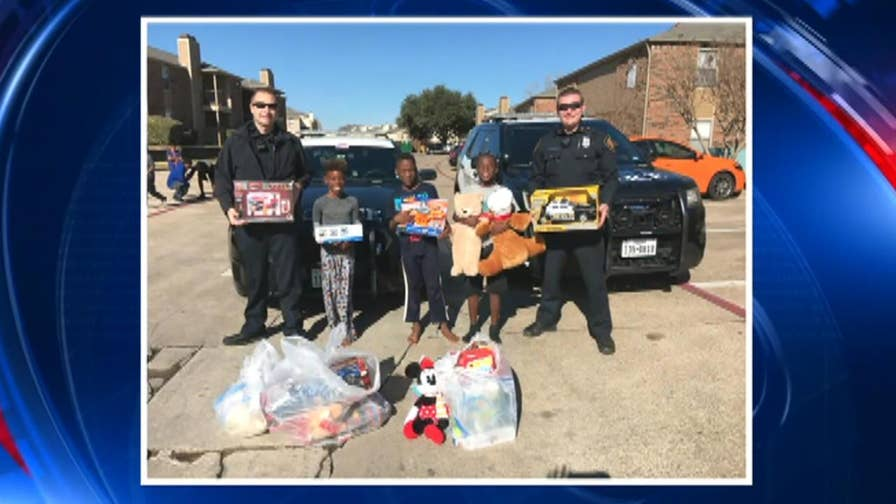 Fort Worth police save Christmas for family after gifts were stolen