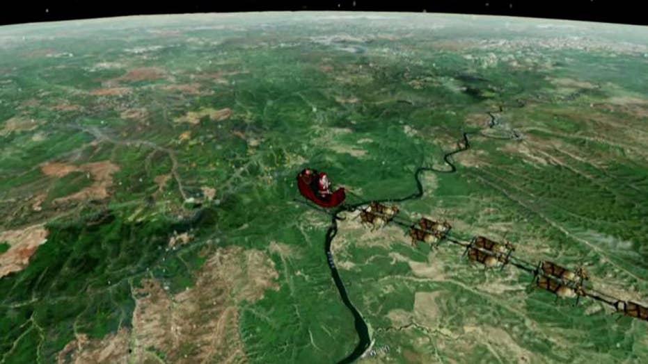 NORAD tracking Santa's worldwide journey