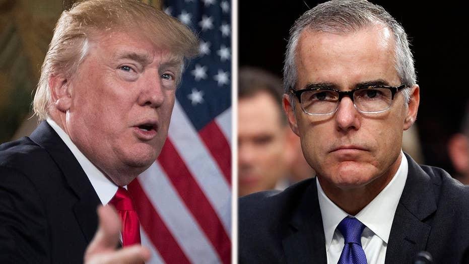 Trump slams FBI's McCabe amid reports of retirement