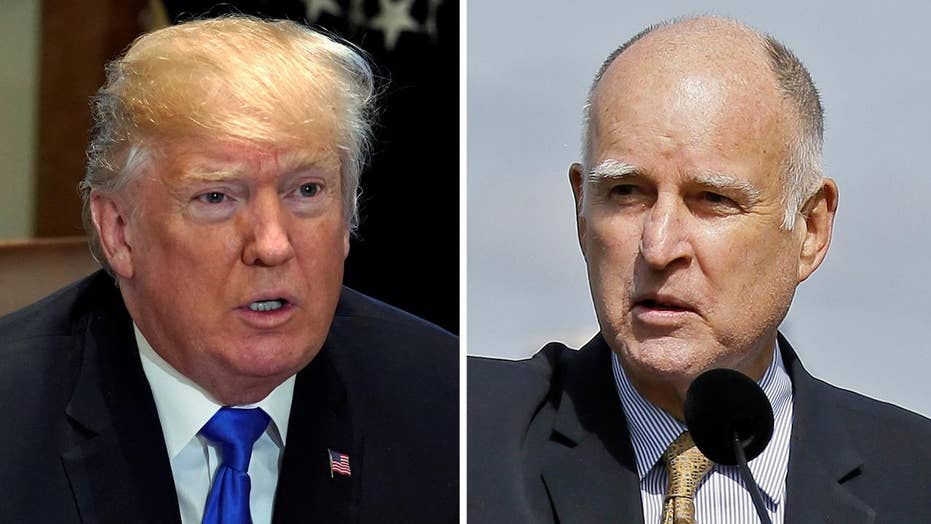 Gov. Brown, President Trump butt heads over immigration