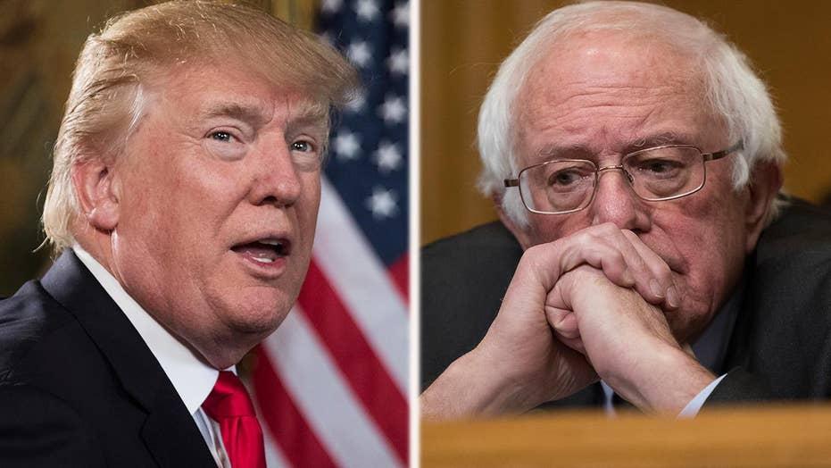 Trump, Sanders clash on Twitter over new tax law