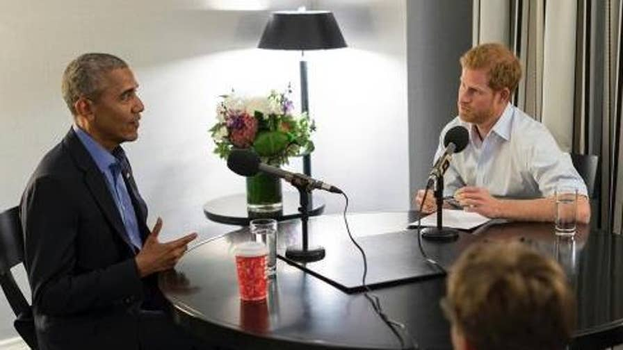On 'Happening Now,' Nile Gardiner reacts to concerns of a political fallout if Prince Harry and Meghan Markle invite the Obamas over President Trump.